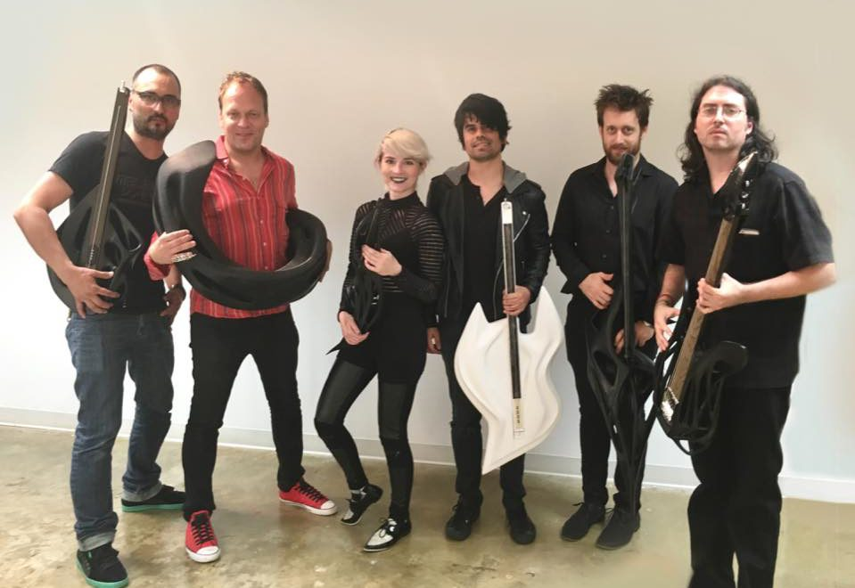 MONAD STUDIOS + Scott F. Hall 3-D Printed Instruments Jam with Ed Keller and LAVOLA at MBUS FIU South Beach